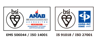 EMS506044-ISO14001 / IS91018-ISO27001